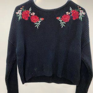 Rose Embroidered Sweater!